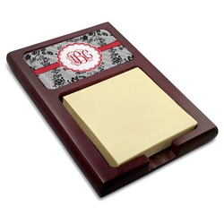 Black Lace Red Mahogany Sticky Note Holder (Personalized)