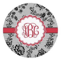 Black Lace Round Decal - Small (Personalized)