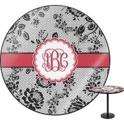 Black Lace Round Table (Personalized)