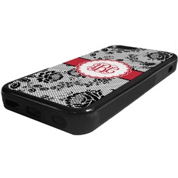 Black Lace Rubber iPhone 5C Phone Case (Personalized)