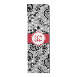 Black Lace Runner Rug - 3.66'x8' (Personalized)