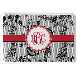 Black Lace Serving Tray (Personalized)