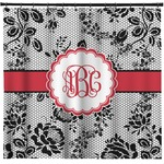 Black Lace Shower Curtain (Personalized)