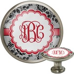 Black Lace Cabinet Knob (Silver) (Personalized)