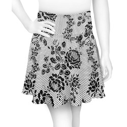 Black Lace Skater Skirt (Personalized)