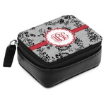 Black Lace Small Leatherette Travel Pill Case (Personalized)