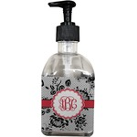 Black Lace Soap/Lotion Dispenser (Glass) (Personalized)