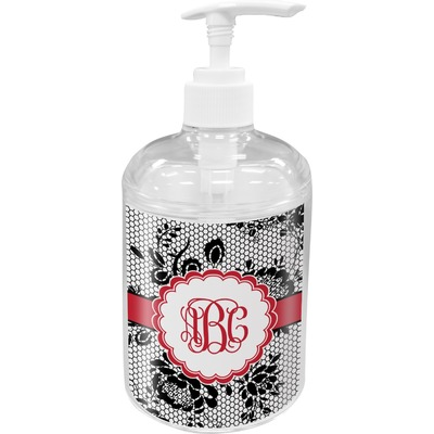 Black Lace Acrylic Soap & Lotion Bottle (Personalized)