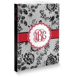 """Black Lace Softbound Notebook - 5.75"""" x 8"""" (Personalized)"""