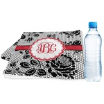 Black Lace Sports & Fitness Towel (Personalized)