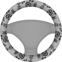 Black Lace Steering Wheel Cover (Personalized)