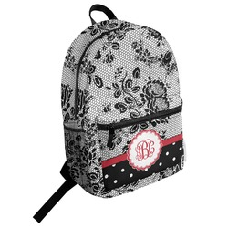 Black Lace Student Backpack (Personalized)