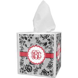 Black Lace Tissue Box Cover (Personalized)