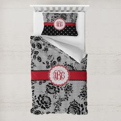 Black Lace Toddler Bedding w/ Monogram