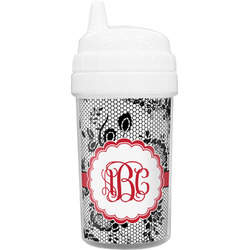 Black Lace Toddler Sippy Cup (Personalized)