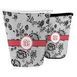 Black Lace Waste Basket (Personalized)