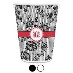 Black Lace Waste Basket (Personalized)