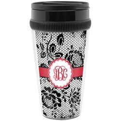 Black Lace Travel Mugs (Personalized)