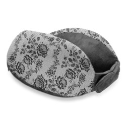 Black Lace Travel Neck Pillow (Personalized)