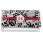Black Lace Vinyl Checkbook Cover (Personalized)