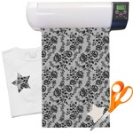 Black Lace Heat Transfer Vinyl Sheet (12