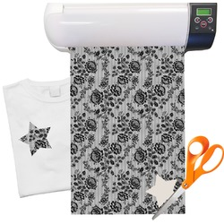 "Black Lace Heat Transfer Vinyl Sheet (12""x18"")"