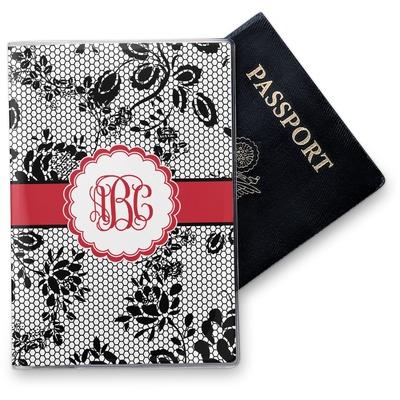 Black Lace Vinyl Passport Holder (Personalized)