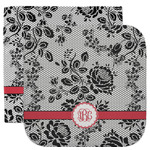 Black Lace Facecloth / Wash Cloth (Personalized)