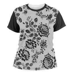 Black Lace Women's Crew T-Shirt (Personalized)