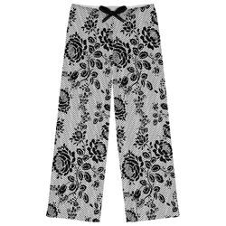 Black Lace Womens Pajama Pants (Personalized)