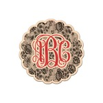 Black Lace Genuine Maple or Cherry Wood Sticker (Personalized)