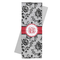 Black Lace Yoga Mat Towel (Personalized)