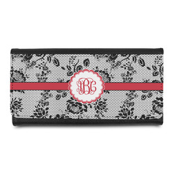 Black Lace Leatherette Ladies Wallet (Personalized)