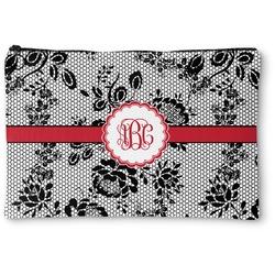 Black Lace Zipper Pouch (Personalized)