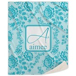 Lace Sherpa Throw Blanket (Personalized)