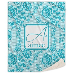 "Lace Sherpa Throw Blanket - 50""x60"" (Personalized)"