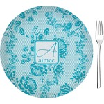 """Lace Glass Appetizer / Dessert Plates 8"""" - Single or Set (Personalized)"""