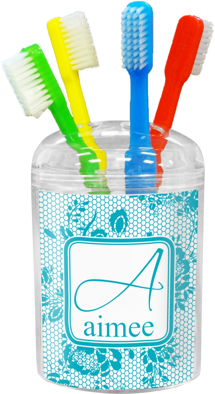 Lace toothbrush holder personalized youcustomizeit for Bathroom decor hashtags