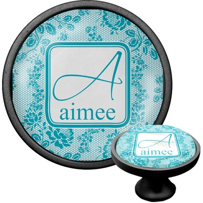Lace Cabinet Knob (Black) (Personalized)