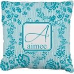Lace Faux-Linen Throw Pillow (Personalized)
