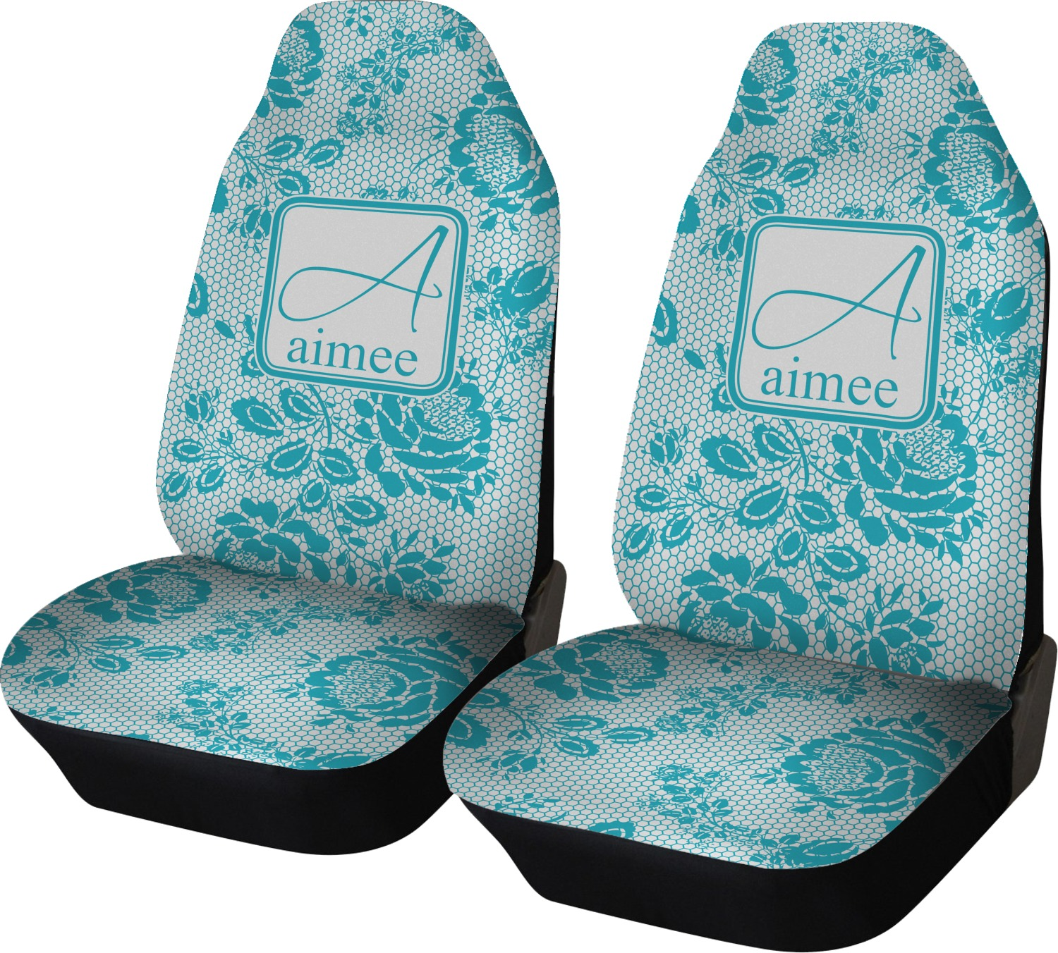 Lace Car Seat Covers Set Of Two Personalized