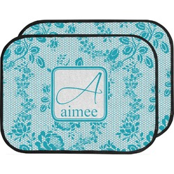 Lace Car Floor Mats (Back Seat) (Personalized)
