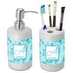 Lace Bathroom Accessories Set (Ceramic) (Personalized)