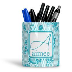 Lace Ceramic Pen Holder
