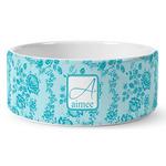 Lace Ceramic Dog Bowl (Personalized)