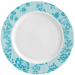 Lace Ceramic Dinner Plates (Set of 4) (Personalized)