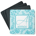 Lace 4 Square Coasters - Rubber Backed (Personalized)