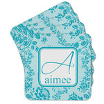 Lace Cork Coaster - Set of 4 w/ Name and Initial