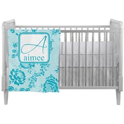 Lace Crib Comforter / Quilt (Personalized)