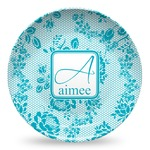 Lace Microwave Safe Plastic Plate - Composite Polymer (Personalized)